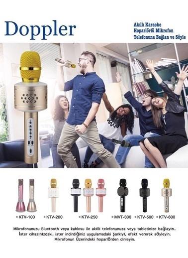 Doppler Bluetooth Hoparlörlü Karaoke Mikrofon MVT300 Pembe Pembe